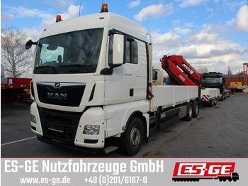 Ciężarówka burtowa MAN TGX 26500 6x2-4 BL mit MKG-Ladekran HLK531 a5