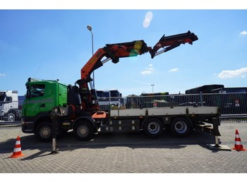 Scania R 420 8X4 OPEN BOX WITH PALFINGER PK 85002 CRANE WITH PJ 170E JIB - ciężarówka