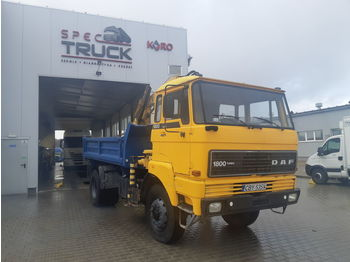 Wywrotka DAF 1800, FULL STELL ,TIPPER WITH CRANE ,4X4