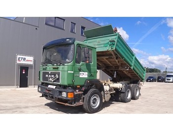 MAN 24.332 (BIG AXLE / FULL STEEL SUSPENSION / 6 CYLINDER WITH MANUAL PUMP) - wywrotka