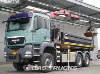 MAN TGS 26.440 M 6X6 6x6 Manual Big-Axle Steelsuspension 2-Seiten Euro 4 NL-Truck HMF 1643 Z2 - wywrotka