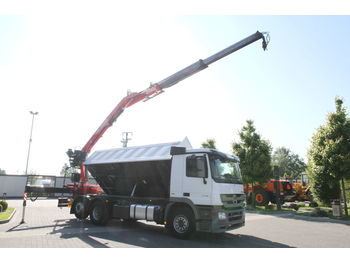 MERCEDES-BENZ 6x2 ACTROS 2544 L TIPPER CRANE FASSI F185AS.22 10.85 m - wywrotka