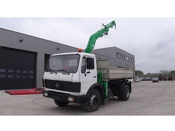 Wywrotka Mercedes-Benz SK 1622 (BIG AXLE / STEEL SUSPENSION / MK CRANE / V6-ENGINE)