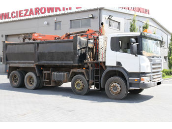SCANIA P340 8x4 TIPPER CRANE RIGHT SIDE DRIVE - wywrotka