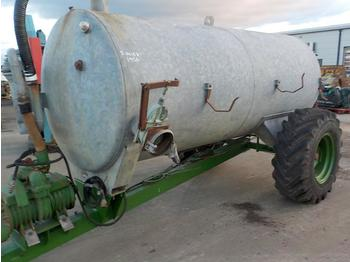 Single Axle Draw Bar PTO Driven Galvanised Slurry Tanker - przyczepa rolnicza