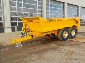 Przyczepa rolnicza Unused 2020 Barford MP14 14 Ton Multi Purpose Dump Trailer, Aluminium Ramps, Sprung Draw c/w 8 Stud Agri Axles.