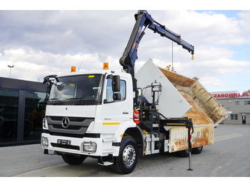 MERCEDES-BENZ Axor 2633 , 6x4 , E5 , 2-side tipper , bordmatic , Crane Hiab 1 - wywrotka