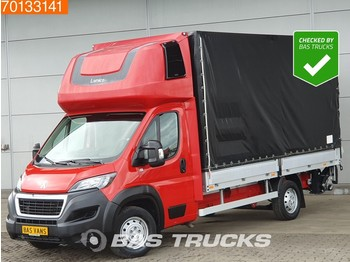 Peugeot Boxer 2.0 Blue HDI 163PS Ladebordwand Pritsche Plane Parking heater 20m3 A/C - samochód dostawczy plandeka